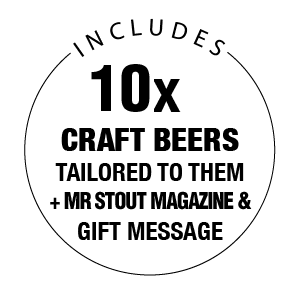 Includes 10x Craft Beers, FREE snack and a gift message