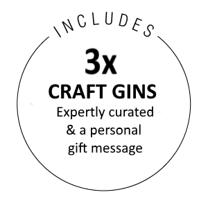 Includes 3x 200ml Bottles of Craft Gin and a gift message