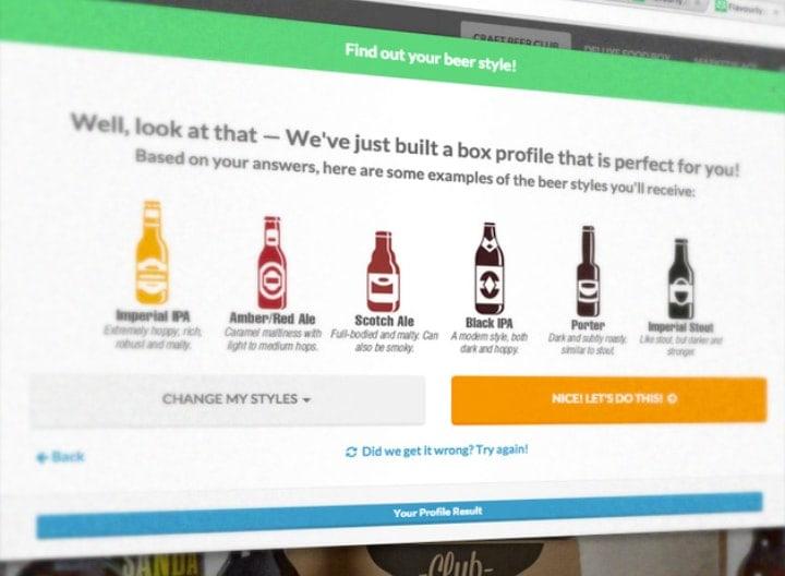 Personalisation Screen