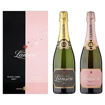 Lanson Black and Rose Label Twin by None