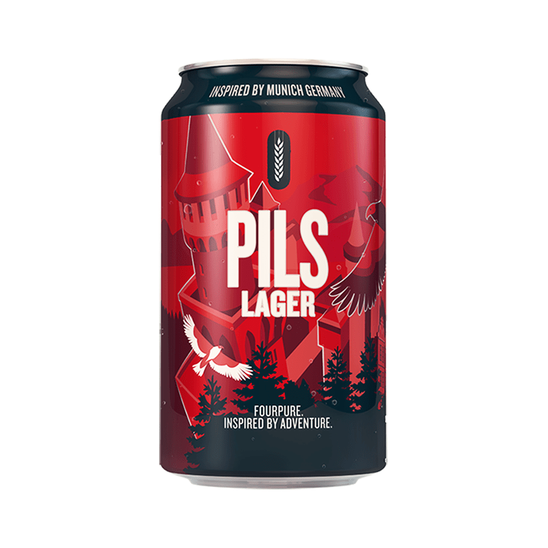 Four Pure Pils Lager by Fourpure